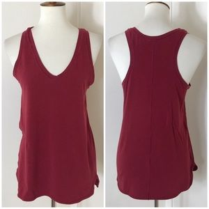 Lululemon stretch pima cotton racerback tank top